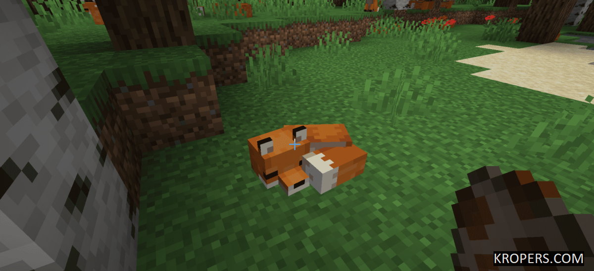 New mob! Fox in Minecraft Bedrock Edition